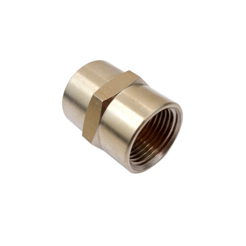 """3PCS 1/4"""" NPT Brass Pipe Fitting Female Coupling Equal"""