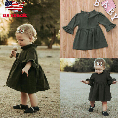 Party Girl Clothing (US Toddler Baby Girl Kids Princess Party Autumn Tutu Dress Skirt Outfits)