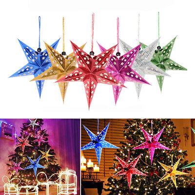 Large Paper Lantern (Large Lampshade Paper Pentagram Lantern Hanging Star Xmas Wedding Decor)