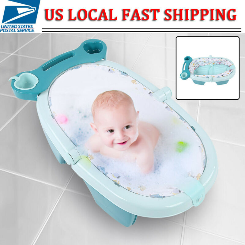 Baby Shower Bath Portable Bathtub Infant Newborn Bathing Folding Safety Tub NEW
