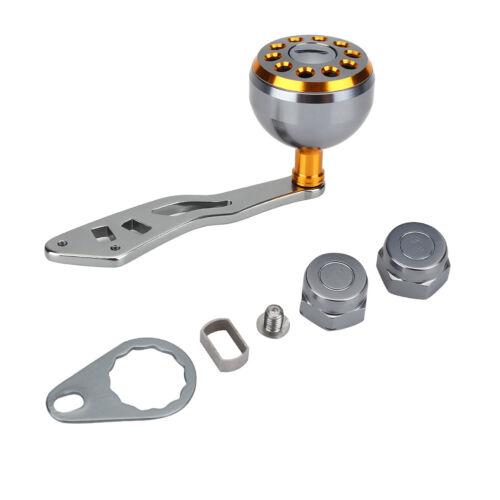 Fishing Baitcasting Reel Handle Power Handle Knob Grip 5x8//4x7mm Grey