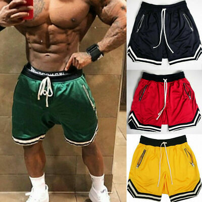 Mens Gym Fitness Shorts Running Sport Workout Casual Jogging Sweat Pant Trousers ()
