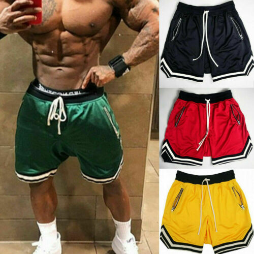 mens gym fitness shorts running sport workout