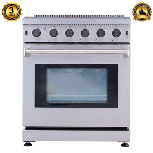 30-Inch Professional Stainless Steel Gas Range 5 Burner Cook