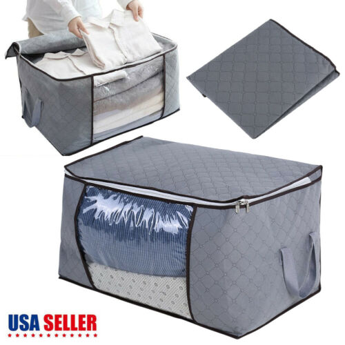 Large Foldable Clothes Blanket Quilt Closet Sweater Storage