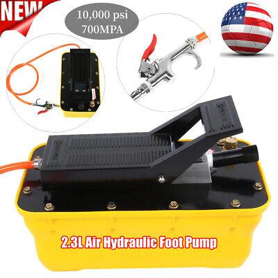 Air Hydraulic Foot Pump 2.3l Single Acting Pneumatic Foot Pump W Hose Coupler