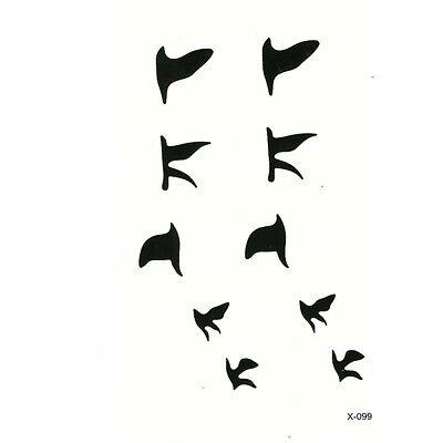 Temporäre Tattoos Vogel Bird Design Temporary Körperkunst Zugvögel Klebetattoo ()