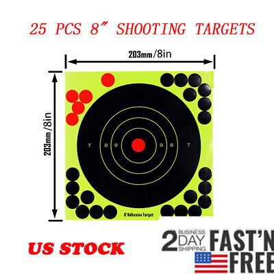 50 PAPER 17CM COLOUR MAGPIE AIRSOFT BB GUN SHOOTING PRACTISE TARGETS