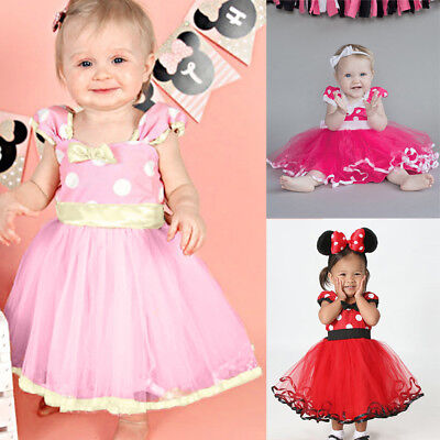 Minnie Mouse Costume For Toddlers (Minnie Mouse Girls Polka Dot Ballet Tutu Skirts For Toddler Fancy Dress)