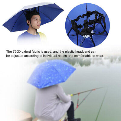 Top Folding Hat Umbrella Sonnencreme Windproof Kopf montierte Regenschirme