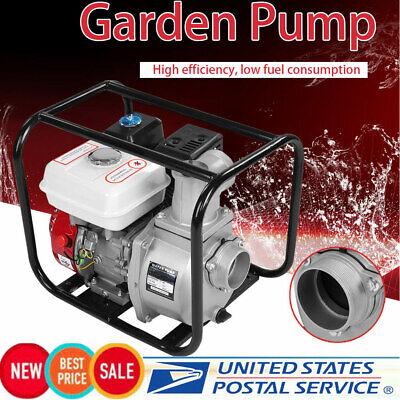 6.5hp 3 Inch High Pressure Flow Gasoline Water Pump 7m Garden Irrigation