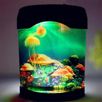 Sea World LED Night Light Lamp Glow Aquarium Jellyfish Tank Kids Bedside lamp