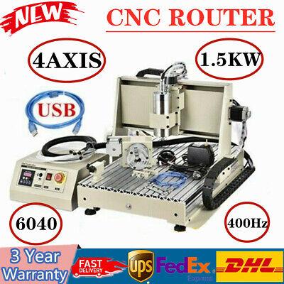 4axis Cnc6040 1.5kw Router Engraver Milling Machine Diy Desktop Cutter Usb