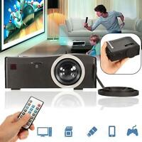 Full Hd 1080p Home Theater Led Multimedia Projector Cinema Tv Hdmi Black Us By - unbranded/generic - ebay.co.uk