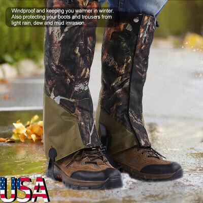 Hunting Leg Gaiters Waterproof Hiking Boot Gaiters Camo Snow Shoe Covers Outdoor