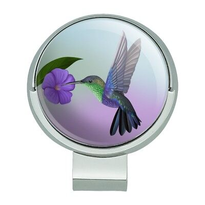 (Hummingbird Crowned Woodnymph Purple Golf Hat Clip With Magnetic Ball Marker)