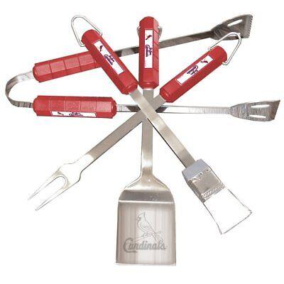 ST. Saint Louis Cardinals -Piece BBQ Grilling  Set, Cardinals Grill Needed DAD Saints Bbq Set