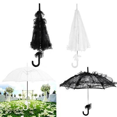 White Lace Umbrella (Vintage White/ Black Lace Handmade Parasol Sun Umbrella Bridal Wedding)