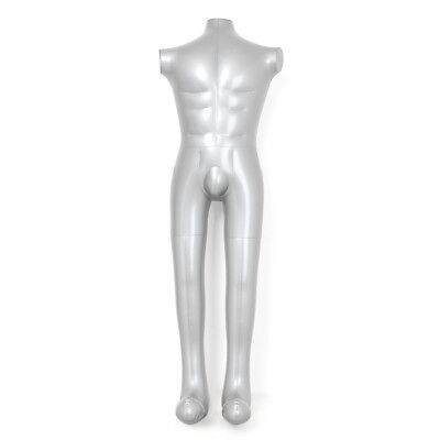 1x Male Inflatable Dummy Torso Full Body Mannequin Armless Model Clothes Display