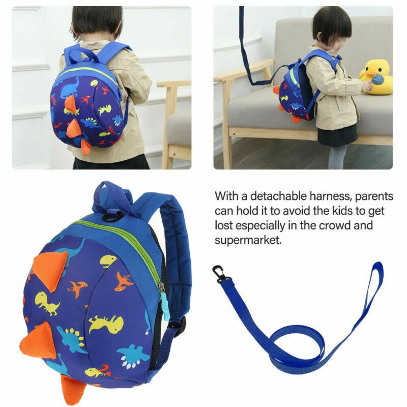 New Kids Anti-lost Baby Safety Harness Backpack Leash Child Toddler Dinosaur Bag