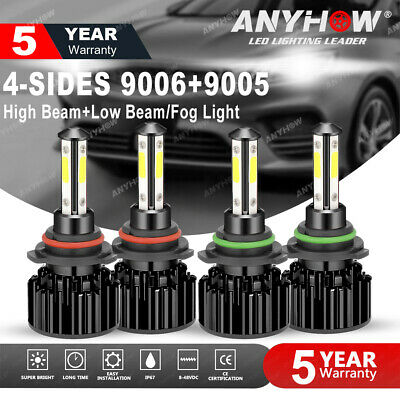 9005+9006 LED Combo Headlight Kit CREE COB 240W Light Bulbs High & Low Beam