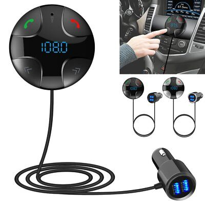 Bluetooth 4.2 Handsfree Wireless Car FM Transmitter MP3 Player & USB Charger Kit