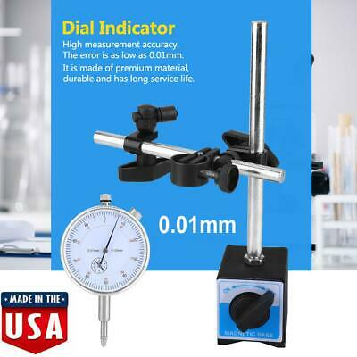 0-10mm Dial Test Indicator Accuracy 0.01mm 0-1 Percentile With Magnetic Base