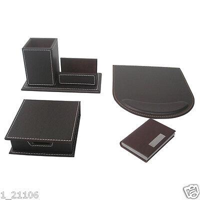 Wholesale Office Supplies 4pcsset Pen Pencil Holder Memo Cards Case Mouse Pad