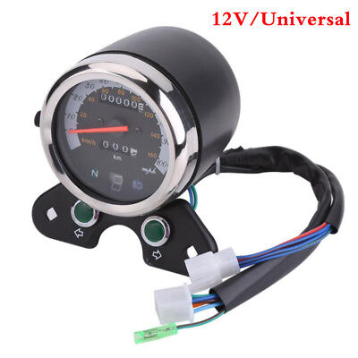 12V Motorcycle Speedometer Tachometer Speedo Meter for Honda Suzuki Cafe Racer