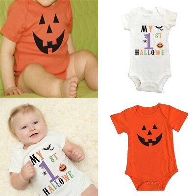 Fashion Halloween Outfits (Baby Kid Boy Girl 1st Halloween One Piece Romper Jumpsuit Bodysuit Cotton)