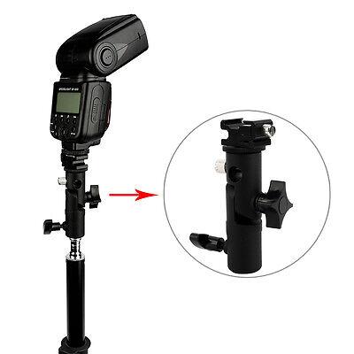 Adjustable Hot Shoe Mount Adapter Flash Light Stand Umbrella Holder Bracket DH