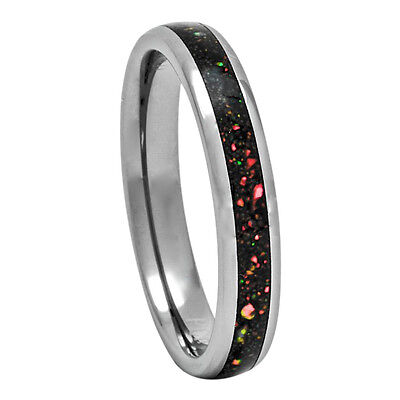 Opal Tungsten Ring 4mm Dome Wedding Band for Men or Women 5-10 Australian
