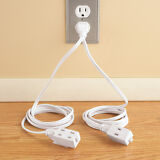 Double Ended Extension Cord, White, by Collections Etc