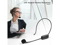 Wireless UHF Headset Capacitive Microphone Mic Teaching Meeting System Receiver