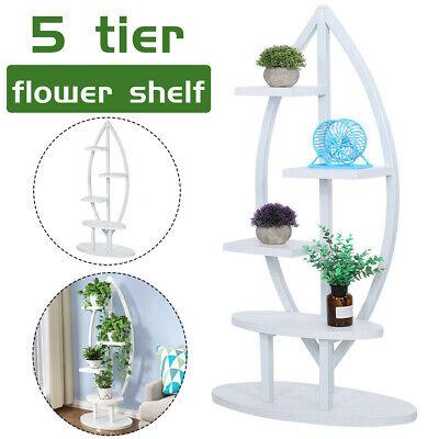 Wooden Plant Flower Vase Pots Shelf Rack Holder Home Garden 5 Tier Display Stand