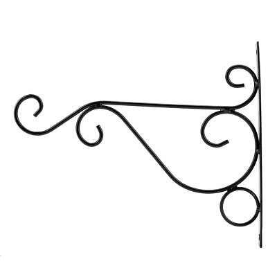 Iron Flower Wall Decor - Iron Wall Hanging Rack Flower Hook Bracket Hanger Art Plant Holder Garden Decor