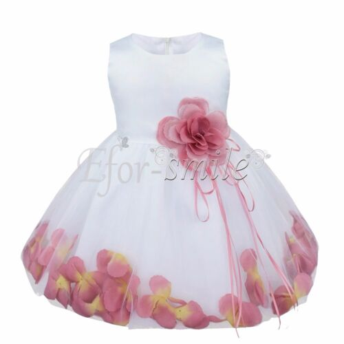 Flower Girls Princess Petal Dress Baby Wedding Party