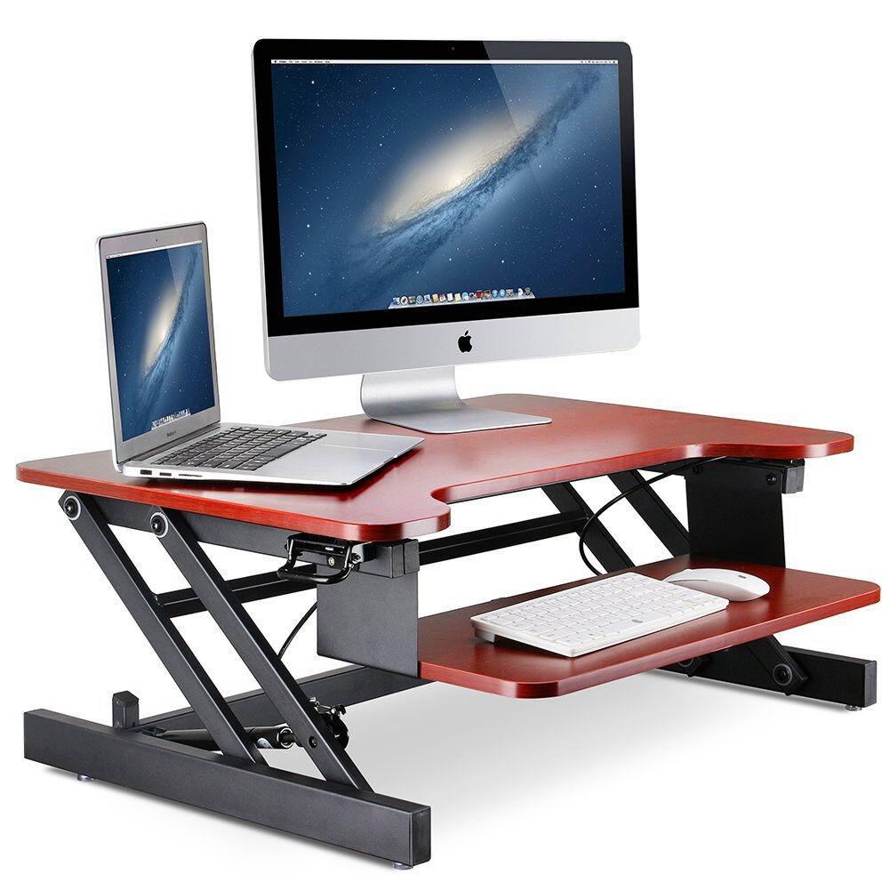 Sit Stand Workstation Office Desk Adjustable Standing