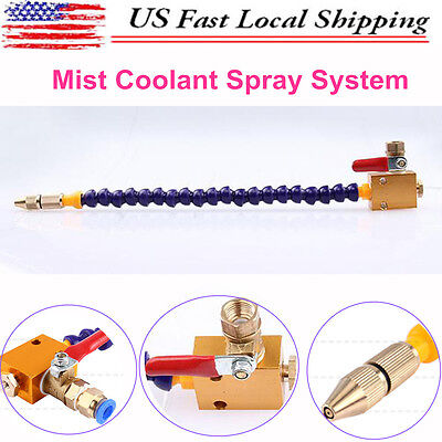 Universal Mist Coolant Spray System For 8mm Air Pipe Lathe Mill Drill Cooling