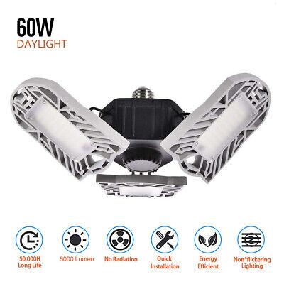 Best Garage Lights Led Shop Utility Ceiling 8000LM Deformable 7000K Daylight