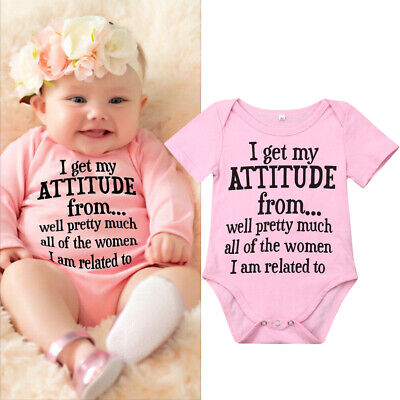 Newborn Infant Baby Girl Funny Letter Romper Jumpsuit Soft Clothes Outfits 0-18M](Outfits Girl)