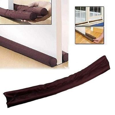 Twin Draft Guard Wind Dust Blocker Sealer Stopper Insulator Door Window Brown