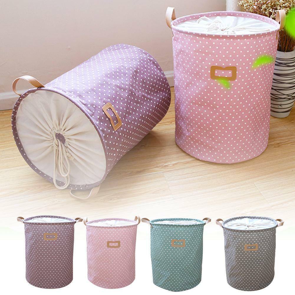 Clothing Storage Bucket Laundry Basket Holder Fabric Bag Hou