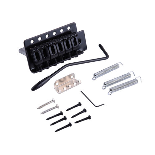 High Quality Black Tremolo Bridge for Strat Electric Guitar Replacement Top