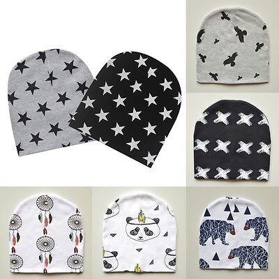 Enfants Garçon Fille Bébé Nourrisson Cute Tricot Doux Hiver Chapeau Coton Bonnet