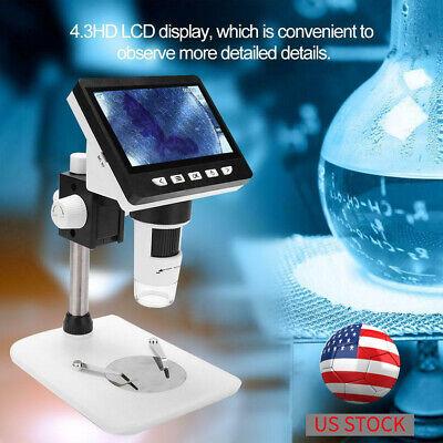 Hd 1080p 4.3 1000x Magnifier Camera Digital Electronic Microscope W Led Lights