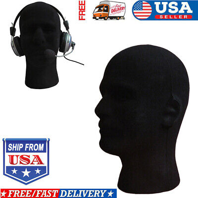 Male Styrofoam Foams Mannequin Manikin Head Model Wigs Glasses Cap Display Stand