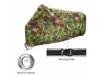 New Camo Waterproof Motorbike Cover, Large XXL 256cm