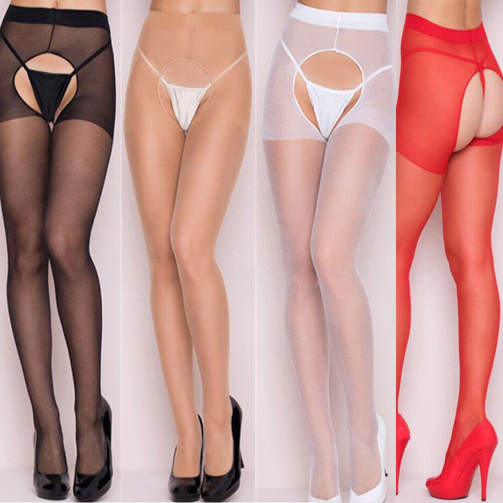 Damen Dünne Strumpfhose Sexy offen Halbmatt Durchsichtig Strümpfe Socke Damenmod