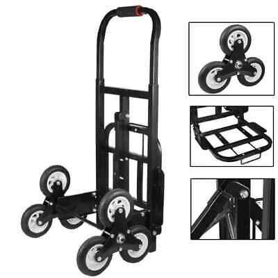 150 kg 6 Wheels Heavy Duty Stair Climbing Truck Hand Sack Truck Trolley Cart UK